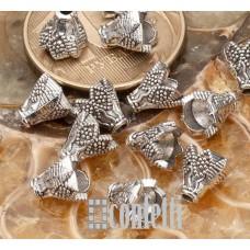 Шапочки-конусы для бусин, 7 мм, античное серебро, F01549