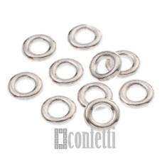 Колечки-коннекторы неразъемные, 9 мм, серебро, F01556