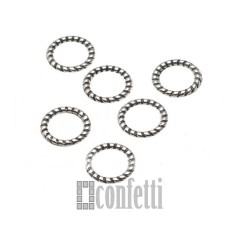 Колечки-коннекторы неразъемные, 10 мм, античное серебро, F01557