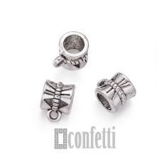 Бейл для бижутерии, цвет античное серебро, F01561