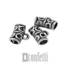 Бейл для бижутерии, цвет античное серебро, F01563