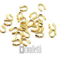 Протектор для защиты ювелирного тросика (ланки), желтое золото, F01565