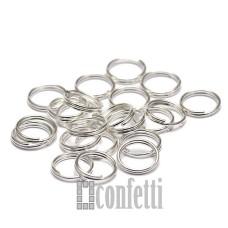 Колечки соединительные двойные 8*0,6 мм платина (10 шт), F01568