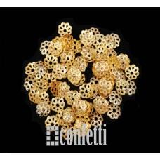 Шапочки для бусин, 7 мм, желтое золото, F01575