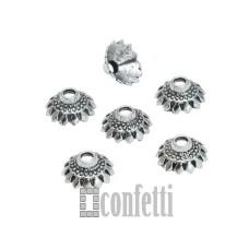 Шапочки для бусин, 10,5*5 мм, античное серебро, F01632