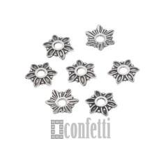 Шапочки для бусин, 8*2 мм, античное серебро, F01633