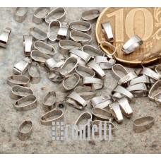 Держатель для кулонов, 6*2,5*3 мм, платина, F01645
