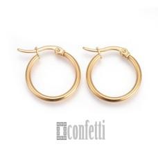 Швензы-кольца из хирургической стали, диаметр 20 мм, позолоченные, F01660