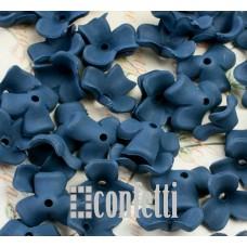 Акриловые цветы Люсит три лепестка, темно-синие, R00200