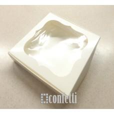 Коробка Молочная с окном 15*15*3