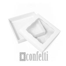 Коробка с окном с крышкой 15*15*3 белая