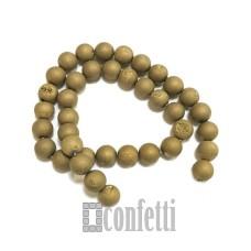 Бусины под пирит 8 мм, цвет золото