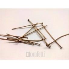 Штифт (пин) - гвоздик 35 мм, бронза (10 шт)