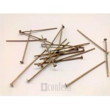 Штифт (пин) - гвоздик 30 мм, бронза (10 шт)