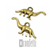 Подвеска Динозавр Диплодок, золото, 27*15*4 мм, F00022