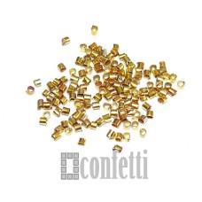 Кримпы (зажимные бусины), 1,1 мм, 10 шт, золото