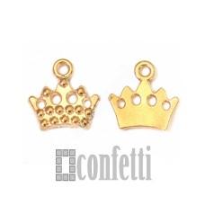 Подвеска Корона, желтое золото, F00041