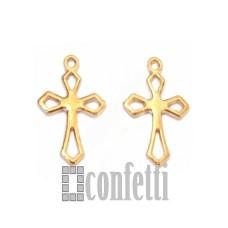 Подвеска Крест, желтое золото, F00046