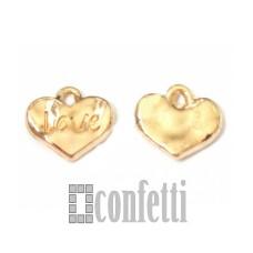 Подвеска Сердце Love, желтое золото, F00053