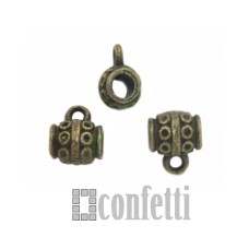 Бейл для бижутерии, цвет бронза, F01281