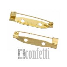 Основа для броши 28 мм, золото, F01304