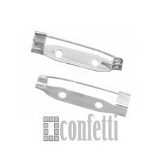 Основа для броши 28 мм, серебро, F01308