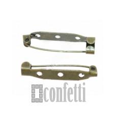 Основа для броши 35 мм, бронза, F01310