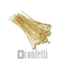 Штифт (пин) с шариком 20х0,5 мм, золото (1 шт), F01326