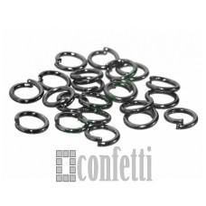 Колечки соединительные 6*1 мм черные (10 шт), F01351