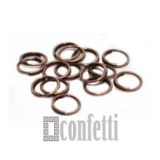 Колечки соединительные двойные 6 мм медь (10 шт), F01354