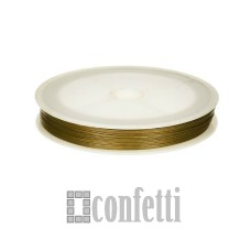 Ювелирный тросик (ланка) старое золото 0,38 мм, F01358