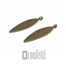 Подвеска Листик, бронза, 34*10 мм, F01591