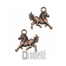 Подвеска Конь, медь, 15*15*2, F01595