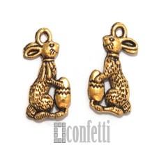Подвеска Заяц, золото, 15*10*2 мм, F01597