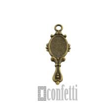 Подвеска Зеркало, бронза, 27*10*2 мм, F01599