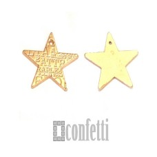 Подвеска Звезда, желтое золото, 16*16*1 мм, F01610