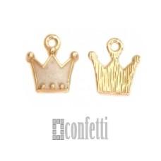 Подвеска Корона, желтое золото, 9*12*2 мм, F01611