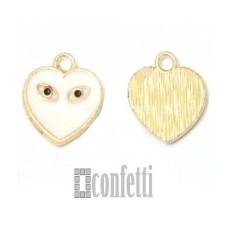 Подвеска Сердце, желтое золото, 12*13*2 мм, F01614