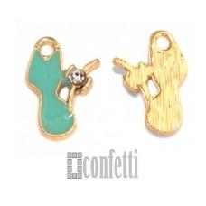 Подвеска Кошка, желтое золото, 14*11*2 мм, F01620