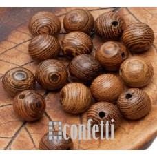 Бусины Бодхи деревянные с красивой фактурой, 8 мм, B00282