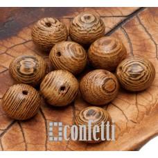 Бусины Бодхи деревянные с красивой фактурой, 10 мм, B00283