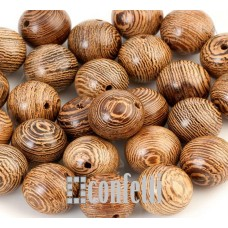 Бусины Бодхи деревянные с красивой фактурой, 12 мм, B00284