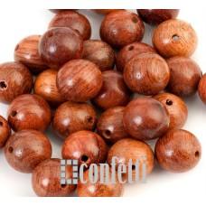 Бусины Бодхи деревянные красно-коричневые, 10 мм, B00285