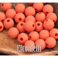 Бусины акриловые матовые, цвет терракотовый, 8 мм, B00292