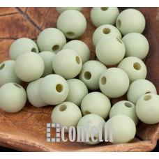 Бусины акриловые матовые, цвет светло-оливковый, 8 мм, B00295