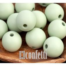 Бусины акриловые матовые, цвет светло-оливковый, 13 мм, B00302