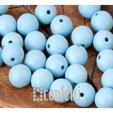Бусины акриловые матовые с перламутровым блеском, цвет голубой, 8 мм, B00303