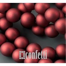 Бусины акриловые матовые непрозрачные, приятные на ощупь, цвет темно-красный, 8 мм, B00305