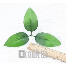 Листья розы тройные, 8,5 см, R00217