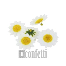 Цветок ромашки, белый, 3,5 см, R00219